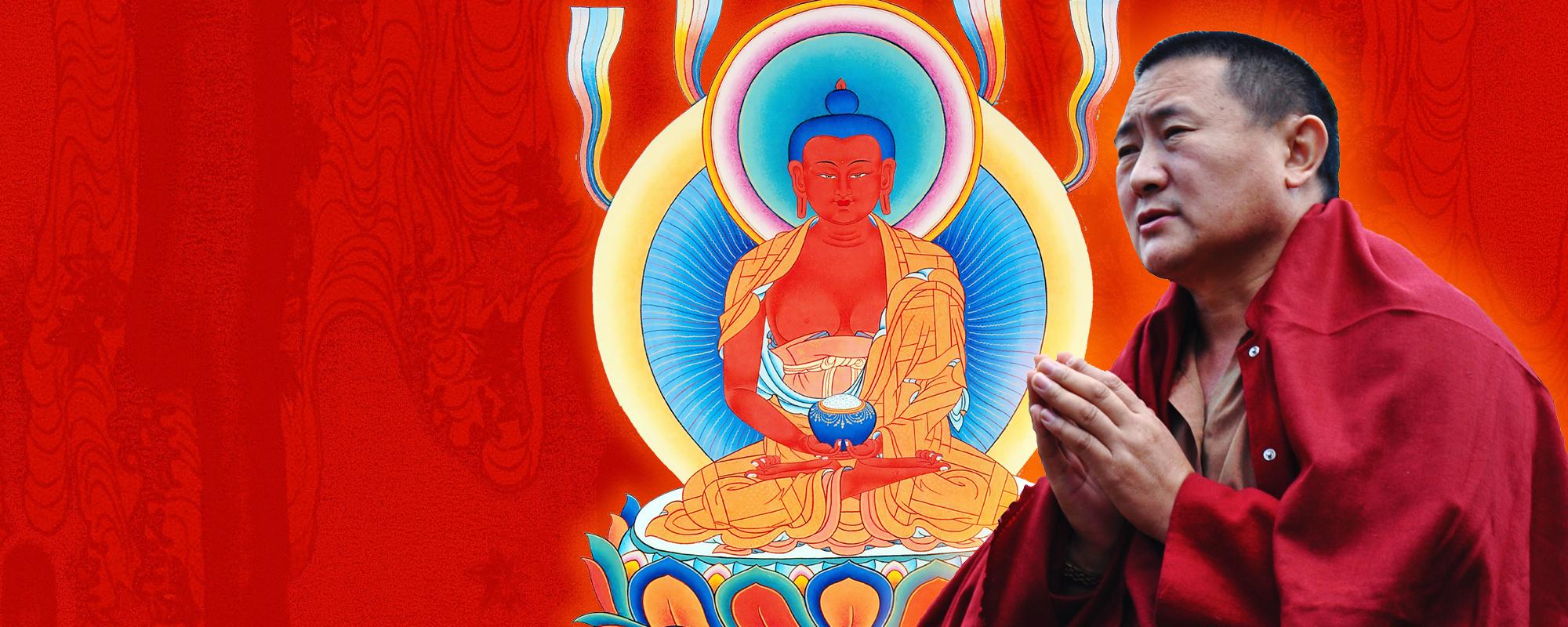 Cültrim Rinpocse Amitábha meghatalmazást ad @ Karmapa Ház - Budapest