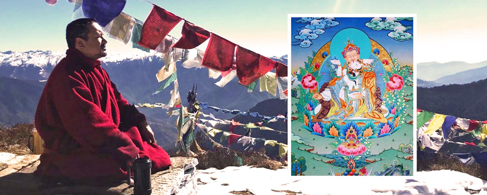 Csung Tulku Rinpocse beavatást ad Guru Rinpocse és Jese Cögyál Egyesülésben levő formájába @ Karmapa Ház | Budapest | Magyarország