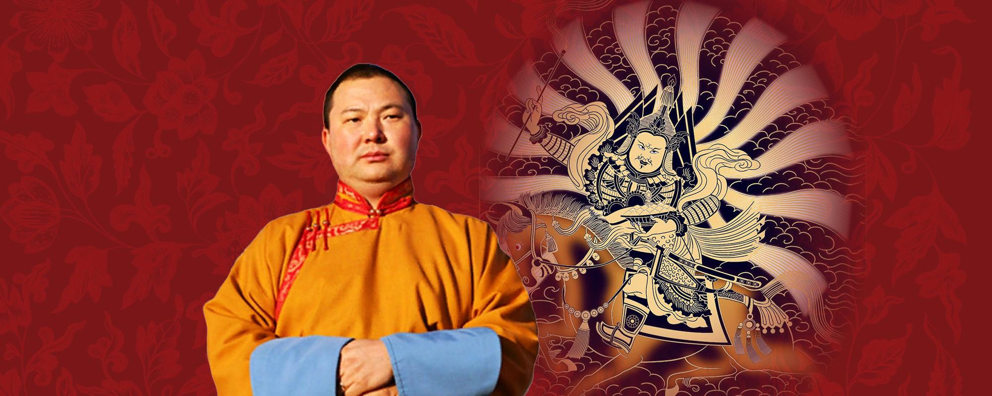 Telo Rinpocse Geszár Király áldását adja Taron @ Tar - Tara templom