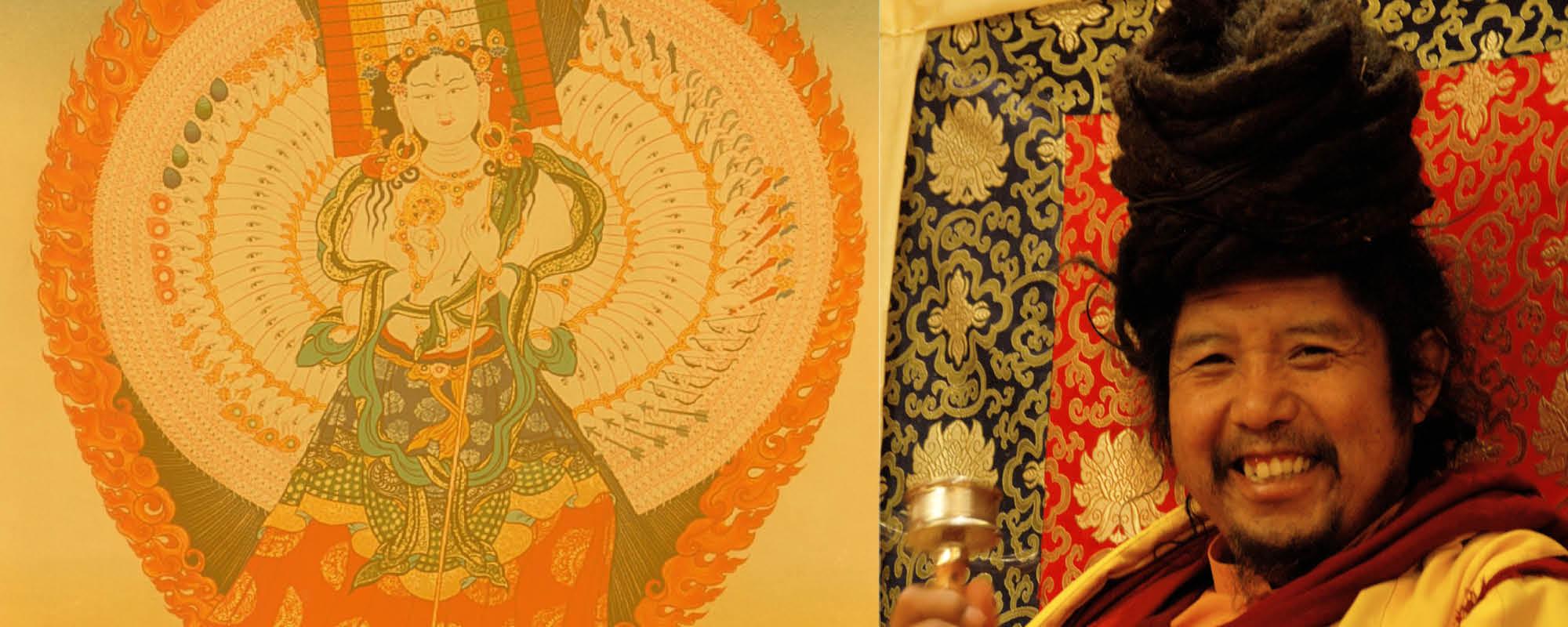 Khenpo Tashi Rinpocse Fehér Ernyő (Dukár) meghatalmazást ad @ Karmapa Ház | Budapest | Magyarország