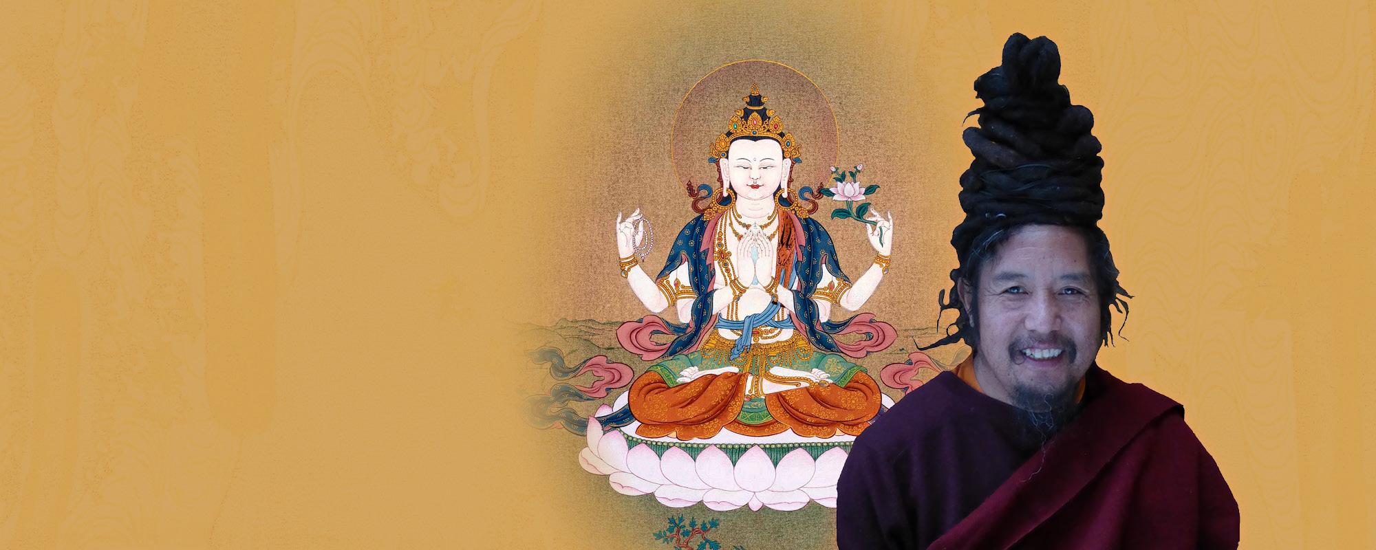 Khenpo Tashi Rinpocse Csenrézi meghatalmazást ad @ Karmapa Ház | Budapest | Magyarország